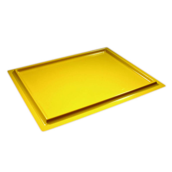 Yellow Radiation Spill Trays