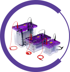 The omniPAGE range of Vertical Gel Systems comprises of three sizes of gel chamber.